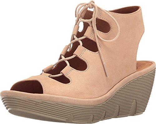 CLARKS Women's Clarene Grace Sand Nubuck Sandal