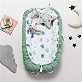 Baby Lounger, Eip.t Baby Nest Portable Super Soft Organic Cotton and Breathable Newborn Lounger - Perfect for Co-Sleeping - Newborn Cocoon Snuggle Bed (Style3)