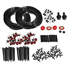 Doitb 46m Hose Micro Drip Irrigation Sprinkler System Kit Garden Greenhouse Landscaping Plant Tubing Watering Drip Kit Accessories