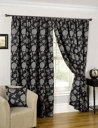 vorhänge schwarz silber | möbelideen - Schlafzimmer Schwarz Silber