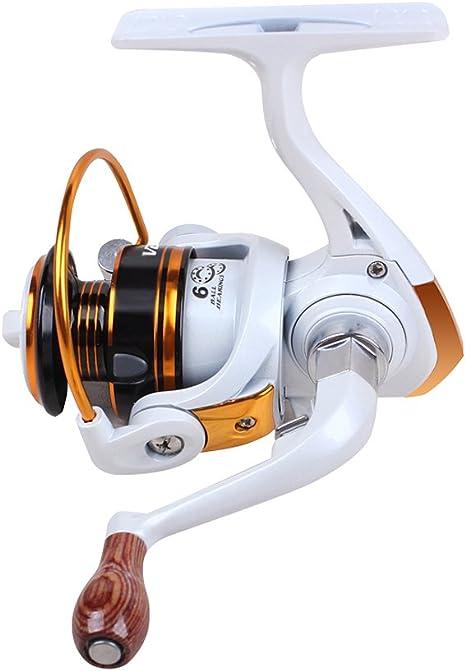 gotaout Mini carrete de pesca 6 rodamientos de bolas Spinning ...