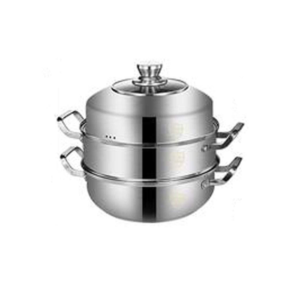 スープポット、料理用ポットの調理に適した、高品質食品グレードのステンレス鋼製多目的ポットが3つのサイズで用意されています。小11.2インチ高11インチ - シルバー (Size : 30cm) 30cm  B07RKQT2Q2