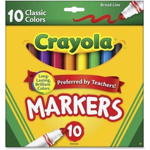 58-7722-crayola-classic-broadline-markers-10-ct-brown-purple-red-orange-yellow-green-black-gray-pink