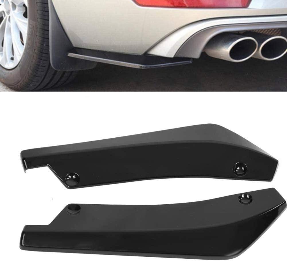 Gloss Black 2 Pcs Rear Bumper Lip Spoiler Canard Diffuser Wrap Angle Compatible With Celica C-HR
