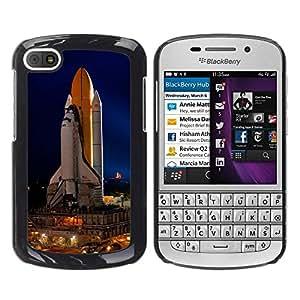 Be Good Phone Accessory // Dura Cáscara cubierta Protectora Caso Carcasa Funda de Protección para BlackBerry Q10 // Cape Canaveral Space Ship Launch