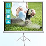 """ivolum 120"""" HD Projector Screen, 86"""" x 86"""" Viewing Area for Indoor and Outdoor Projection"""