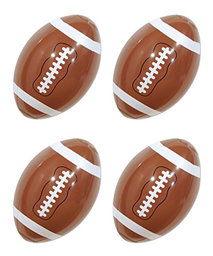 Blow Up Football (Beistle 54881 4 Pieces Inflatable Footballs, 9