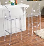 Baxton Studio Infinity Clear Plastic Contemporary Bar Stool (Set of 2) Review