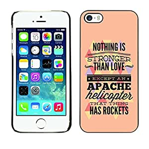 ZAAAZ PC Polycarbonate Aluminium Back Case Cover Apple iPhone 5 / 5S / Nothing Is Stronger Than Love /