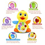 HOMOFY Baby Toys Lovely Dancing Yellow Duck with Singing, Music Lights and Walking, Learning Kids Toys for Girls and Boys or Toddlers