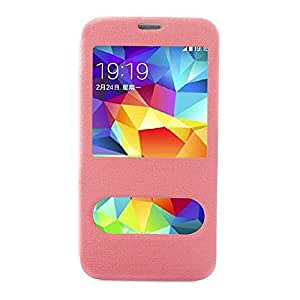 EVERMARKET(TM) Fashion Flip Leather Cover Case for Samsung Galaxy S5 I9600 Pink
