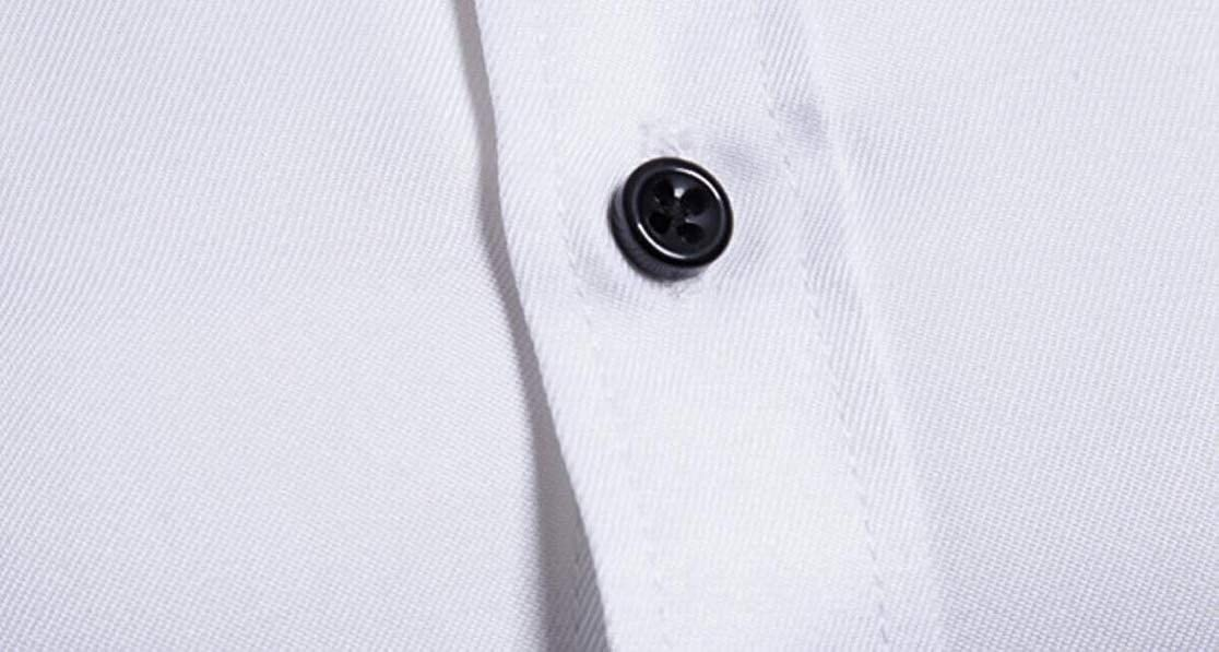 M/&S/&W Mens Inner-Contrast Slim Fit Long Sleeve Stylish Solid Button Front Shirts