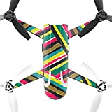 MightySkins Protective Vinyl Skin Decal for Parrot Bebop 2 Quadcopter Drone wrap cover sticker skins Split Color