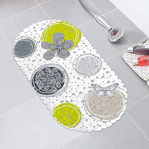 Circles Printing Extra Long Shower Bath Tub Mat Large Non-Slip Bathtub Mat Antibacterial Non Skid Tksale from Unknown