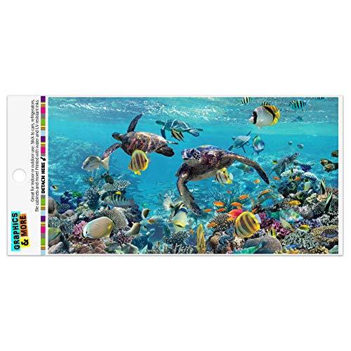 Graphics and More Ocean Coral Reef Sea Turtles Diving Automotive Car Refrigerator Locker Vinyl Magnet