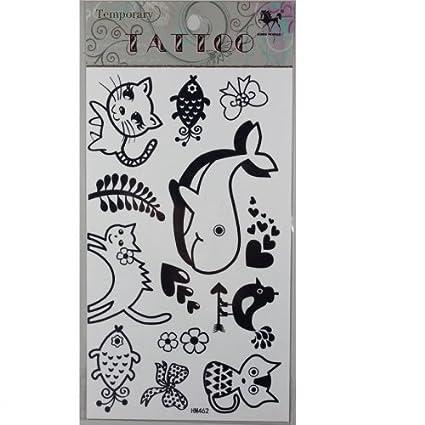 Los hijos de los tatuajes no tóxico falsa tatuajes Estanco gatito ...