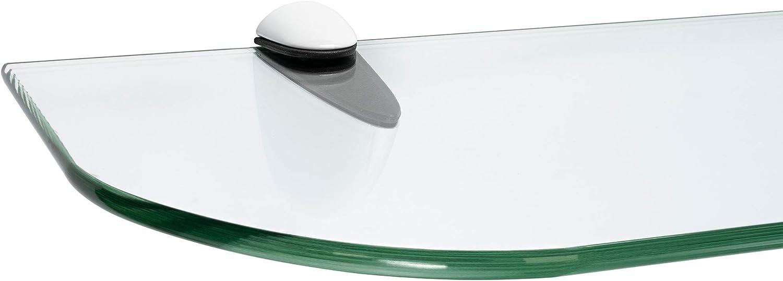 Befestigungsclip CLASSICO Edelstahloptik ib style/® Glasregal 6mm |inkl Klar 40 x 15 cm 11 Gr/ö/ßen| 2 Dekore