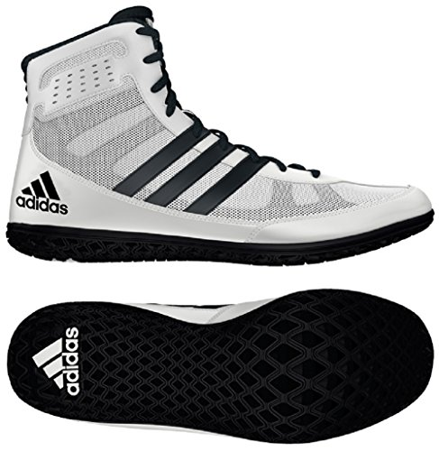 Adidas Mat Wizard Wrestling Shoes White/Black Size 12.5