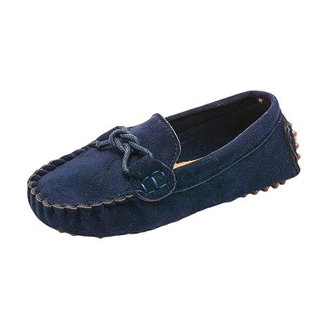 Niños Niñas Mocasines al Aire Libre, Moda Otoño Primavera Casuales Loafers Zapatos Planas con Suela