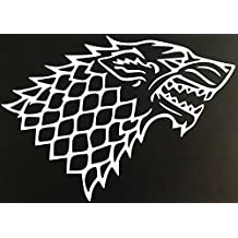 White Game of Thrones Stark Wolf (4 X 5)