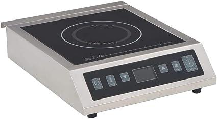 vidaXL Placa de inducción eléctrica con pantalla táctil 3500 W