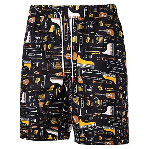 KLGDA Mens Denim Cargo Short Casual Printed Pocket Beach Work Sport Trouser ()