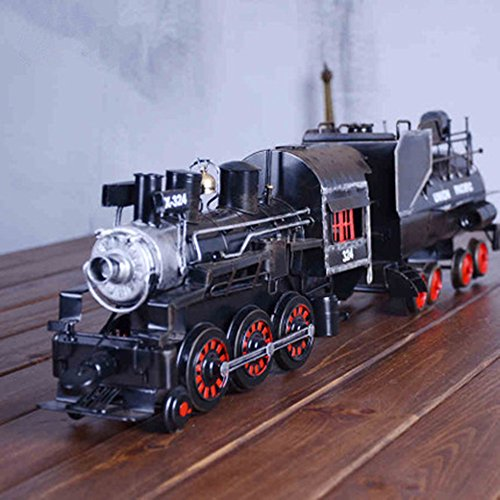 1EA old-fashion iron arts steam train model for home display or TV film stage property by Hondark