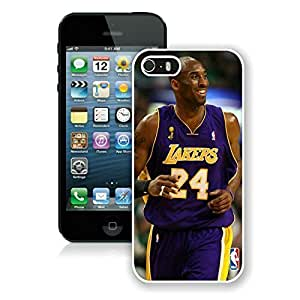 New Custom Design Cover Case For iPhone 5s Generation Kobe Bryant 1 White Phone Case