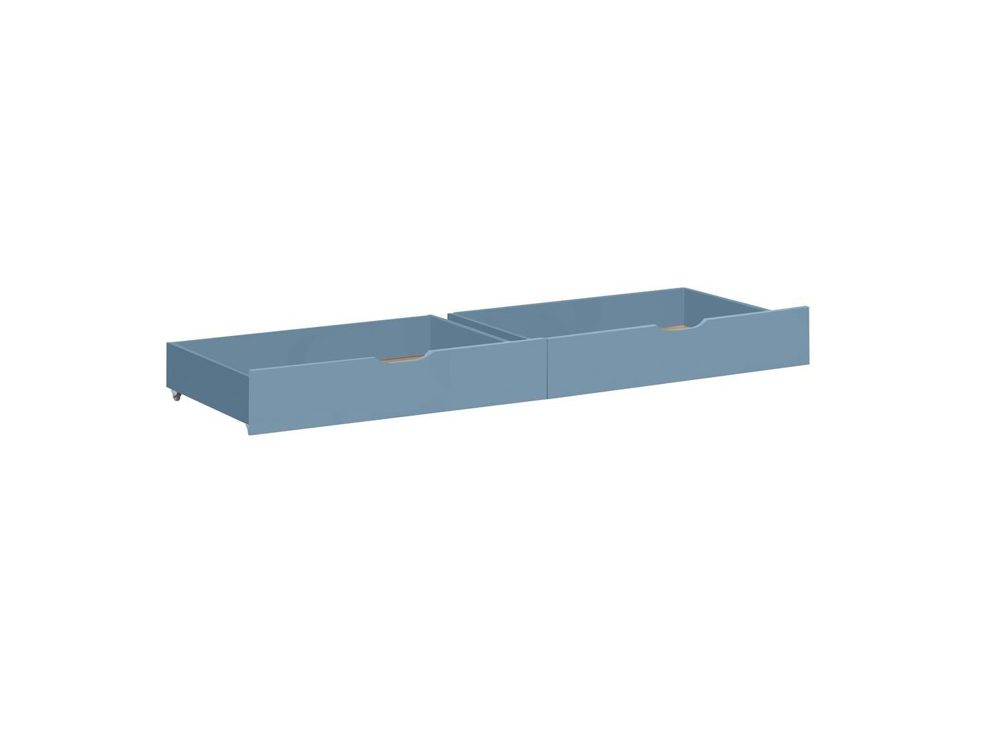 Hoppekids Ida 36–1006–71–07 m Set de tiroir sur roulettes pour lit junior-pour enfant-bébé-enfant - bois - Bleu pastel