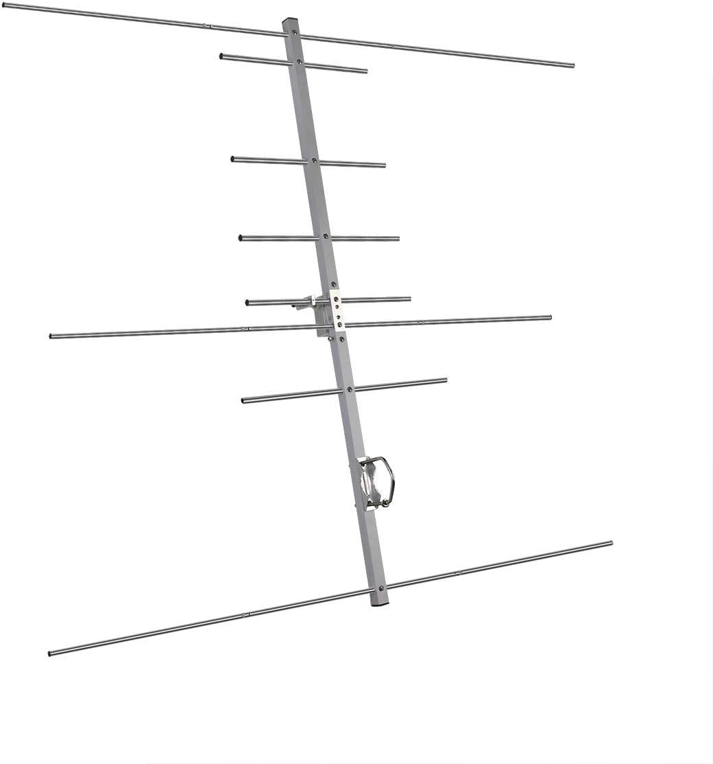 Ailunce AY04 Yagi Antena Alta Ganancia 9.5dBi / 11.5dBi Dual Band 144 y 430 MHz Direccional Antena UHF Hembra Compatible con Ailunce HD1 Compatible ...