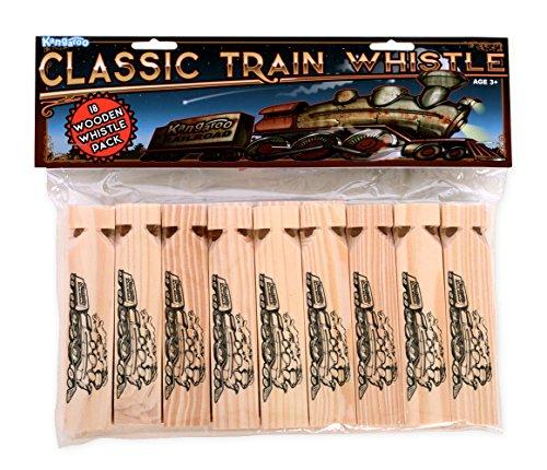 Kangaroo's Wooden Train Whistles, Train Engineer Whistles, 6