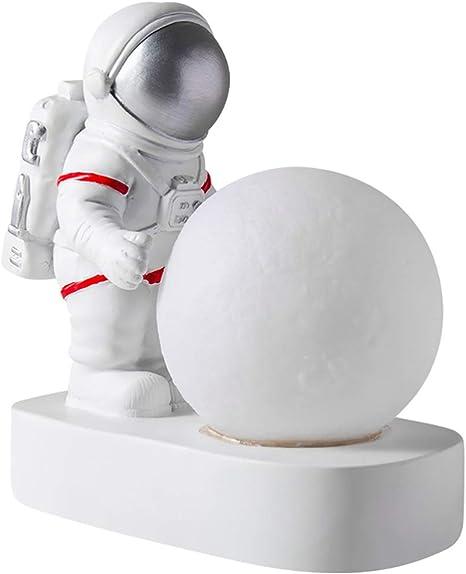 Osaladi Astronauta Luna Lampada Astronauta Luce Notturna A Batteria Statuetta Spaziale Lampada Da Tavolo Regali Per Bomboniere Nello Spazio Esterno Arredamento Camera Da Letto Amazon It Illuminazione
