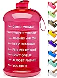 9. Venture Pal Large 1 Gallon/128 OZ & 74 OZ Motivational Leakproof BPA Free Water Bottle with Time Marker Perfect for Fitness Gym Camping Outdoor Sports-1Gallon-Pink