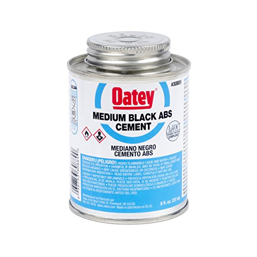 Oatey Abs Cement - Oatey 30889 Medium Bodied Solvent Cement, 8 Oz, Can, Liquid, 8-Ounce, Black