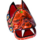 Mini Decorative Wooden Mask from Guatemala. Hand Carved Red Tiger Made With 100% Real Wood. Perfect For Home, Living Room & Bedroom Decorations!