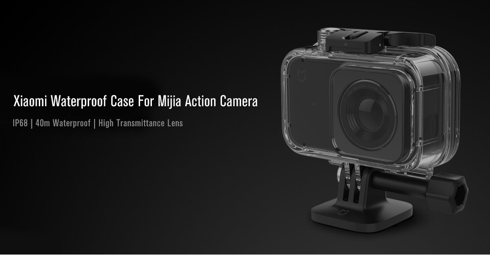 Xiaomi Mi Action Camera Waterproof Case Funda de protección Negro