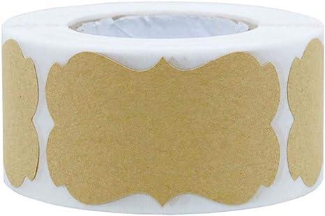 DIY Blank Kraft Label Handmade Baking Seal Stickers Gift Tag for Jar 250pcs//roll