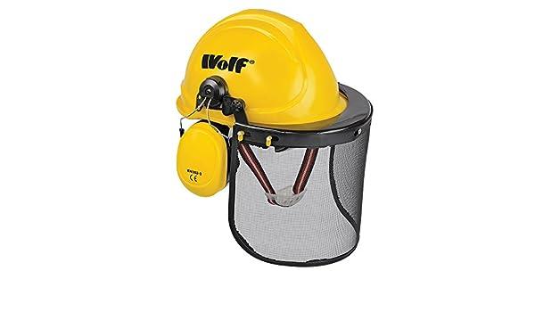 Wolf seguridad duro sombrero casco de combinación set con protección de oídos y cara visera EN352 - 3 y EN1731 EN397.: Amazon.es: Bricolaje y herramientas