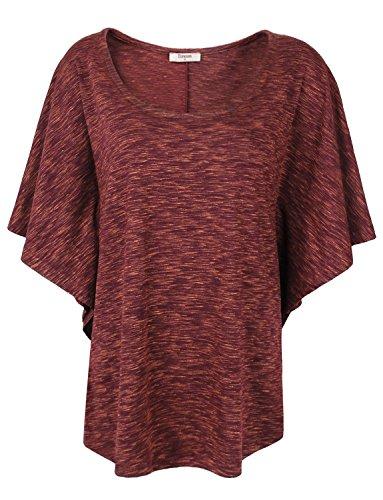 Dolman Sleeve Top,Timeson Dolman Sleeve Round Neck Loose Flowy Soft Fashion Summer (26 Waist Length Jacket)