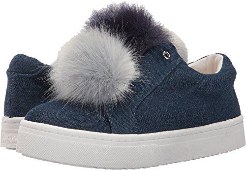 Ladies Dark Blue Denim - Sam Edelman Women's Leya Sneaker, Dark Blue Denim, 9 Medium US