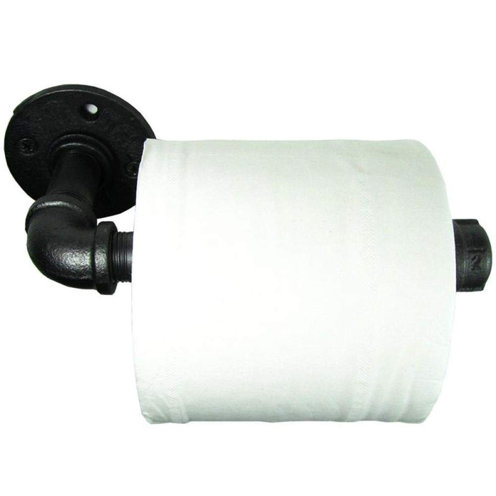 Zhahender Freestanding Toilet Paper Holder Iron Home Toilet Tissue Paper Storage Rack Rail Industrial Rustic Metal Bathroom Toilet Roll Paper Holder Bathroom Hardware by Zhahender (Image #5)