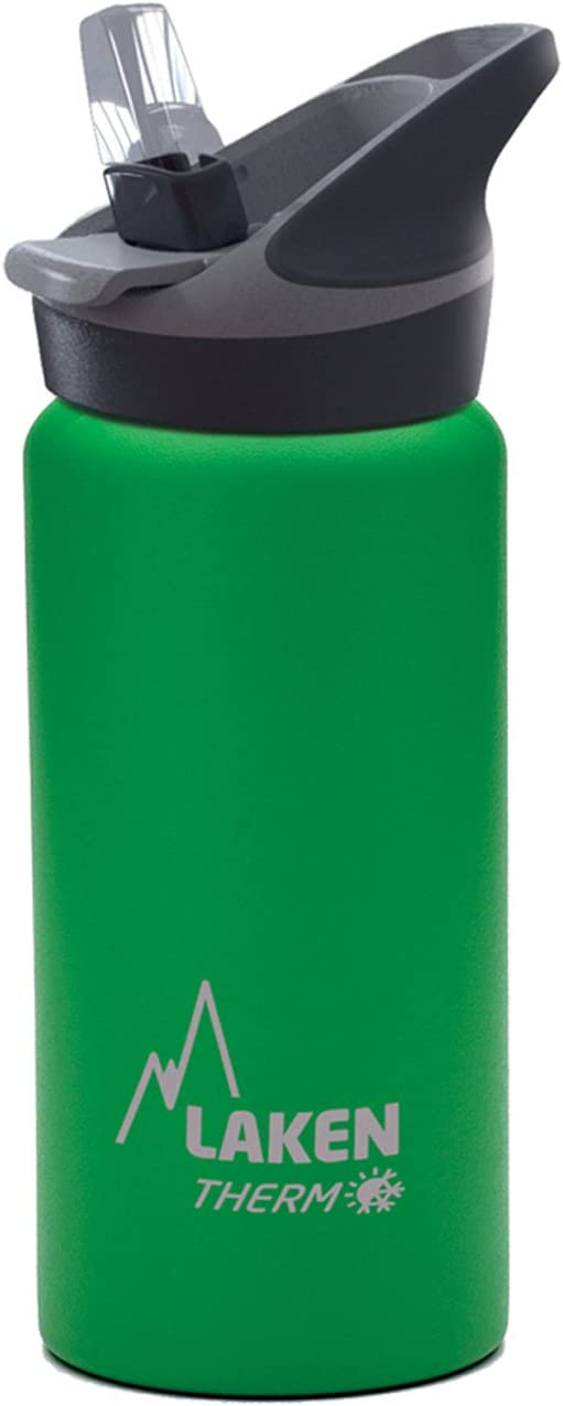 Laken Jannu Botella Térmica Acero Inoxidable 18/8 y Doble Pared de Vacío, Unisex adulto, Verde, 500 ml