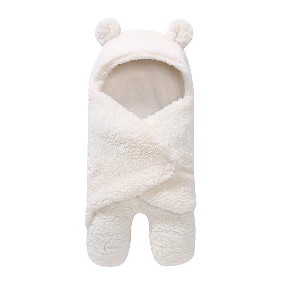 OVERDOSE Neugeborenes Schlafsack Decke Neugeborenes Baby Jungen M/ädchen Swaddle Baby Faux Kaschmir s/ü/ßer B/är Schlafsack Decke Fotografie Prop