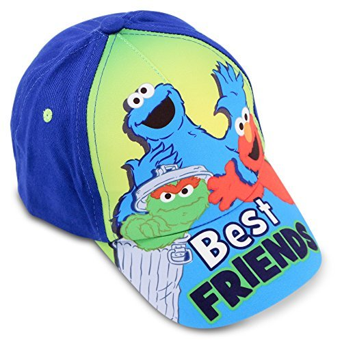 Elmo Cap - Sesame Street Toddler Boys Best Friends Cotton Baseball Cap, Age 2-4