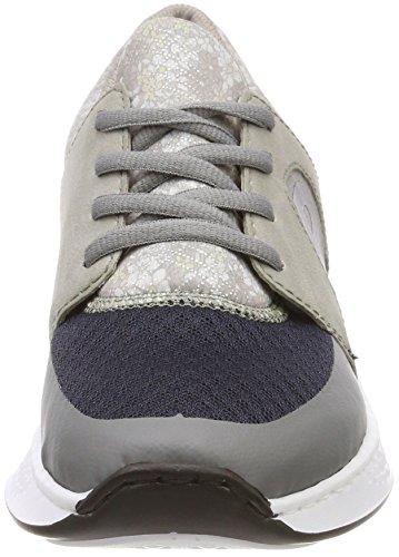 Rieker Les Femmes N5611 poussi Sneaker Gris rr5xRvw