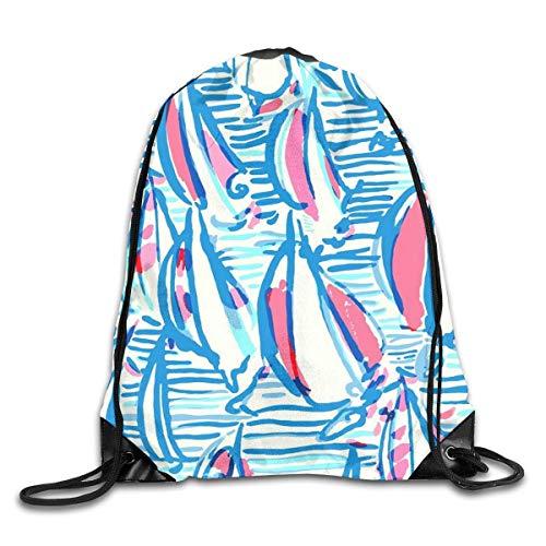 Drawstring Backpack Bag Lilly Pulitzer Rucksack For Gym Travel