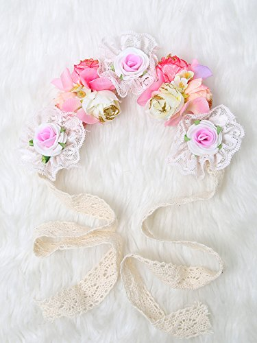 Love Forever Rhinestone (Be gorgeous flowers headband /Rose Crown/Bohemian style (Forever Love))