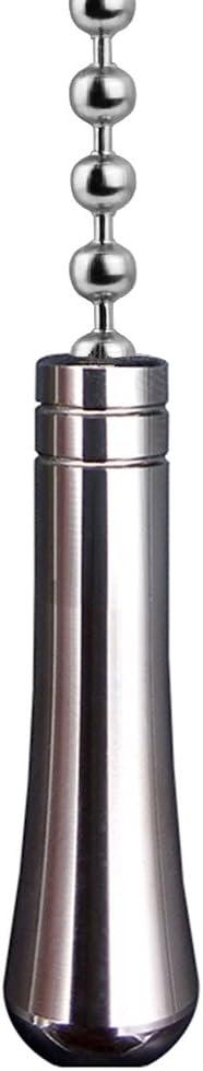 SFTlite luz tira de cadena gran extensión de lágrima con bola de conector de la cadena de 85 cm de largo baño interruptor de baño cromado chapado en la luz del ventilador de luz tirón