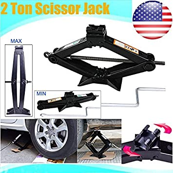 Autobaba Universal Scissor Jack 2 Ton Capacity with Speed Handle for For Chevrolet Chevy GMC Silverado Dodge Ram Ford F250
