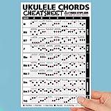 Ukulele Chords Cheatsheet Laminated and Double Sided Pocket Reference (LARGE - 6x9)